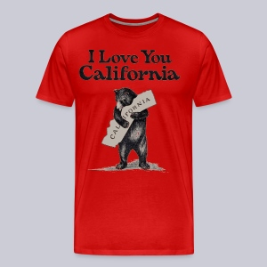 I Love You CA - Men's Premium T-Shirt