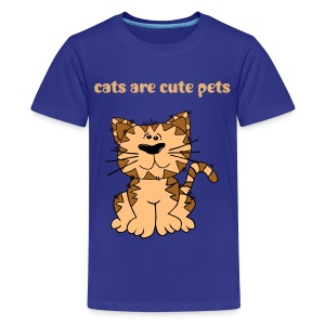 cats-cute pets - Kids' Premium T-Shirt