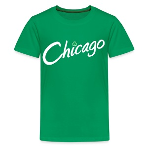 Chicago with a Shamrock - Kids' Premium T-Shirt