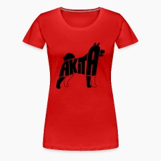 Akita Dog Art Women's T-Shirts