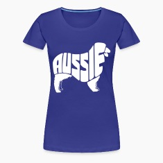 Australian Shepherd Dog Art Women's T-Shirts