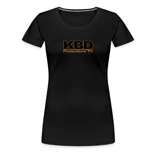 KBDTV Orange Outline - Women's Premium T-Shirt