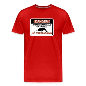 Attack Narwhals on Patrol - Men's Premium T-Shirt