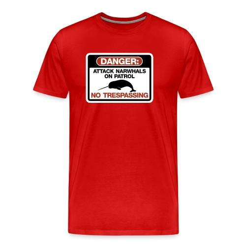 Attack Narwhals on Patrol - Men's Premium T-Shirt