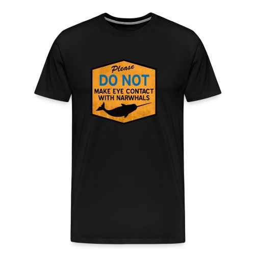 Eye Contact Narwhals (Vintage) - Men's Premium T-Shirt