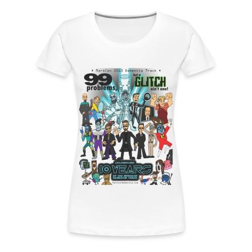Women's Marscon 2013 white t-shirt plus size - Women's Premium T-Shirt