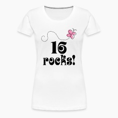 16th Birthday (16 Rocks) T Shirt | Sixteenth Birth