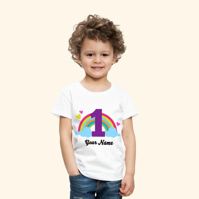 Personalized 1st Birthday Rainbow T Shirt