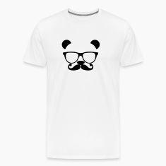 Panda with glasses and mustache T-Shirts