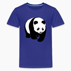 animal t-shirt panda bear teddy cute Kids' Shirts