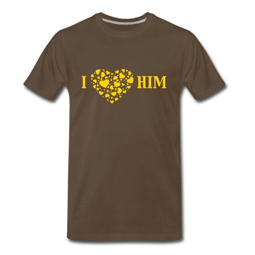 I love HIM - Men's Premium T-Shirt