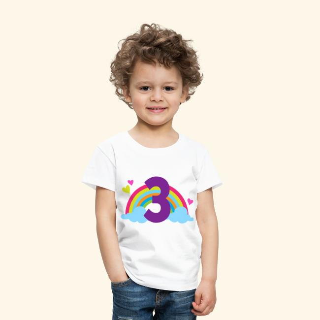 3rd Birthday Rainbow Toddler T Shirt