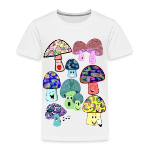 funny mushrooms toddler tshirt - Toddler Premium T-Shirt