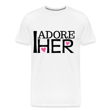 Couples I Adore Her Boyfriend Mens T-Shirt | Match
