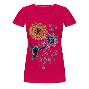 hummingbird lady's plus tshirt - Women's Premium T-Shirt