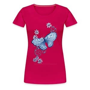 butterfly lady's plus tshirt - Women's Premium T-Shirt