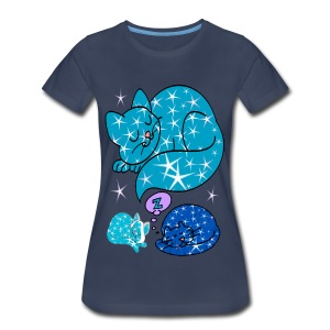 sleepy cats lady's plus tshirt - Women's Premium T-Shirt