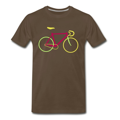 Fixed Gear Bike Bicycle - Men's Premium T-Shirt