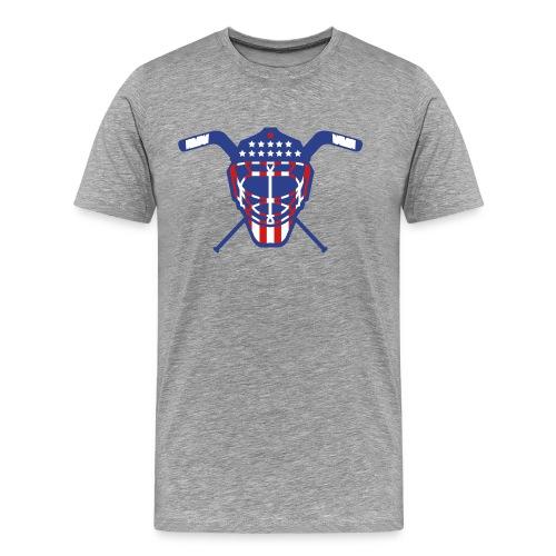 Hockey Goalie Mask Helmet USA - Men's Premium T-Shirt