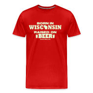 T-Shirts ~ Men's Premium T-Shirt ~ Born in Wisconsin - Glow in the Dark