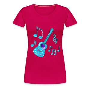 stars and guitar lady's plus tshirt - Women's Premium T-Shirt
