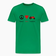 Peace Love Tractors T-Shirts
