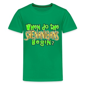 When do the Shenanigans Begin Boys Kids St. Patrick's Day T-Shirt - Kids' Premium T-Shirt