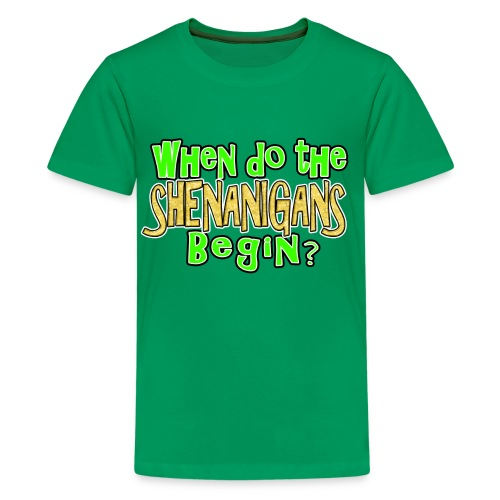 When do the Shenanigans Begin Boys Kids St. Patrick's Day T-Shirt - Kids' Premium T-Shirt