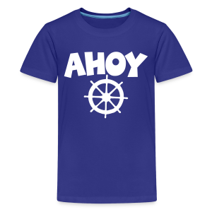 Ahoy Kid's T-Shirt Wheel (Blue/White) - Kids' Premium T-Shirt