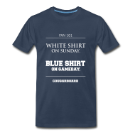 T-Shirts ~ Men's Premium T-Shirt ~ Blue Shirt on Gameday Heavyweight T-shirt