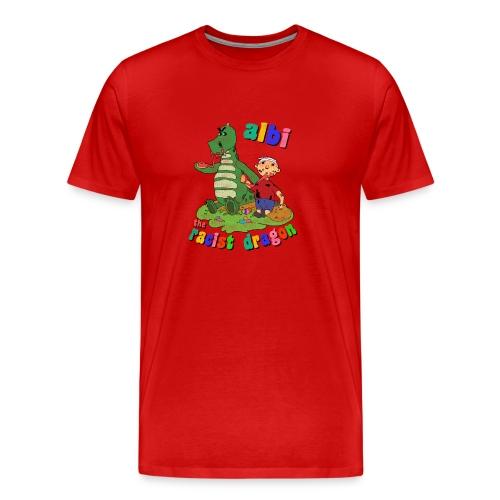 Albi and Albanian Boy - Men's Premium T-Shirt