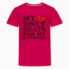 my heart beats only for my boyfriend Kids' Shirts