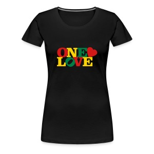 One Love Rasta - Women's Premium T-Shirt
