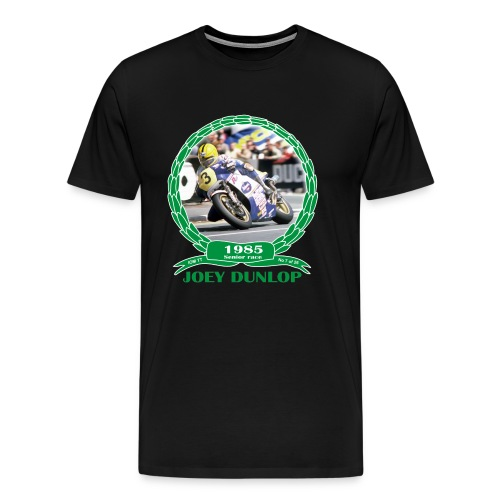 No 7 Joey Dunlop TT 1985 Senior  - Men's Premium T-Shirt