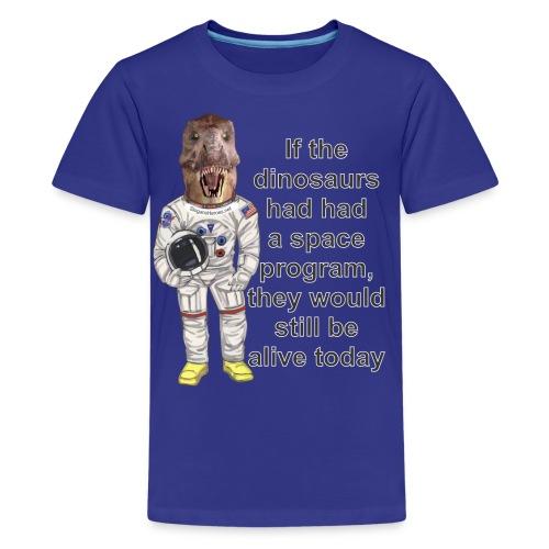 SpaceDino3SHc - Kids' Premium T-Shirt