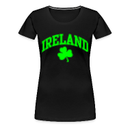 Women's T-Shirts ~ Women's Premium T-Shirt ~ Neon Green Ireland Women's T-Shirt