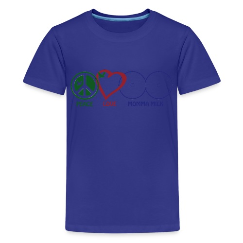 Peace Love Momma Milk - Kids' Premium T-Shirt