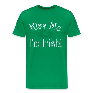 Unisex/Men's Kiss Me I'm Irish T-Shirt - Men's Premium T-Shirt