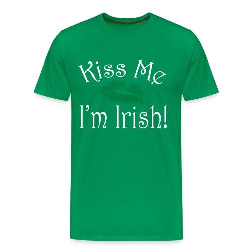 Unisex/Men's Kiss Me I'm Irish T-Shirt - Men's Premium T-Shirt