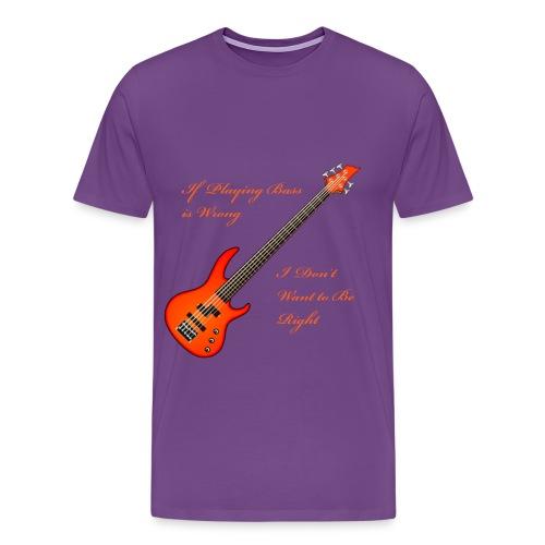Orange Bass is Right - Men's Premium T-Shirt
