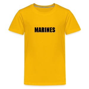 Kids Military Shirts MARINES Logo T-Shirt Yellow - Kids' Premium T-Shirt