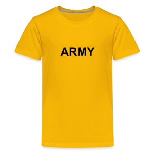 Kids Military Shirts ARMY Logo T-Shirt Yellow - Kids' Premium T-Shirt