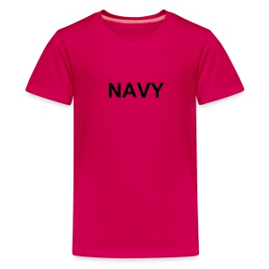 Kids Military Logo Shirts NAVY PINK - Kids' Premium T-Shirt