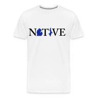 T-Shirts ~ Men's Premium T-Shirt ~ Native Michigander