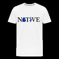 T-Shirts ~ Men's Premium T-Shirt ~ Native Michigander