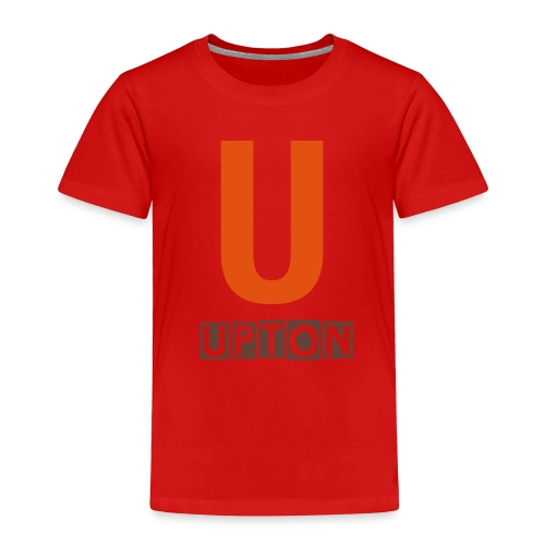 Toddler U name shirt in orange and chocolate - Toddler Premium T-Shirt