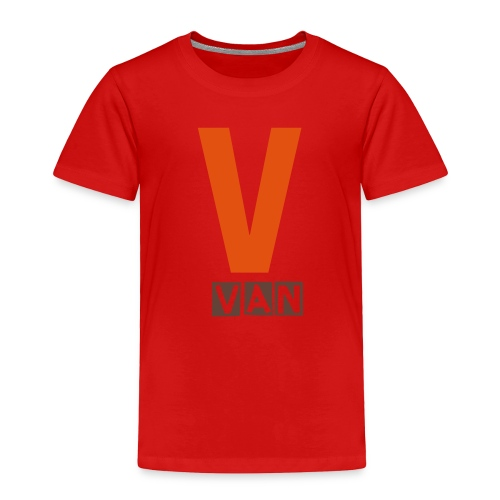 Toddler V name shirt in orange and chocolate - Toddler Premium T-Shirt