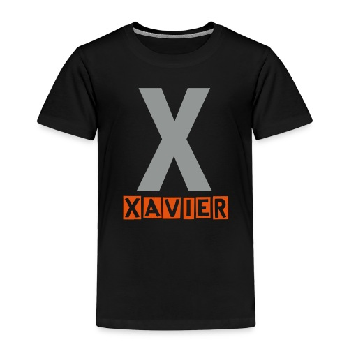 Toddler X name shirt in grey and orange - Toddler Premium T-Shirt