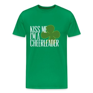 Kiss Me I'm a cheerleader  - Men's Premium T-Shirt