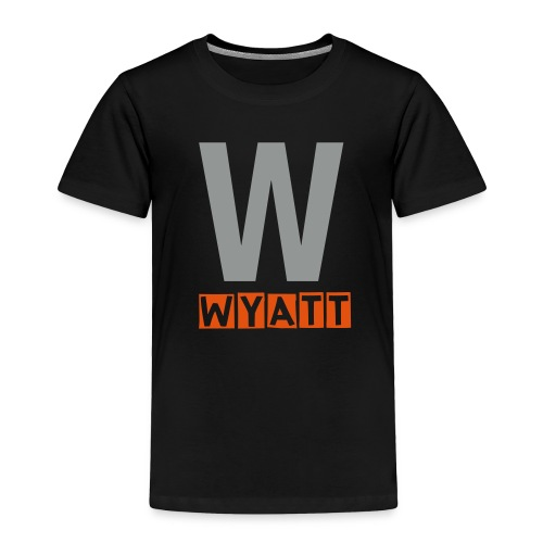 Toddler W name shirt in grey and orange - Toddler Premium T-Shirt